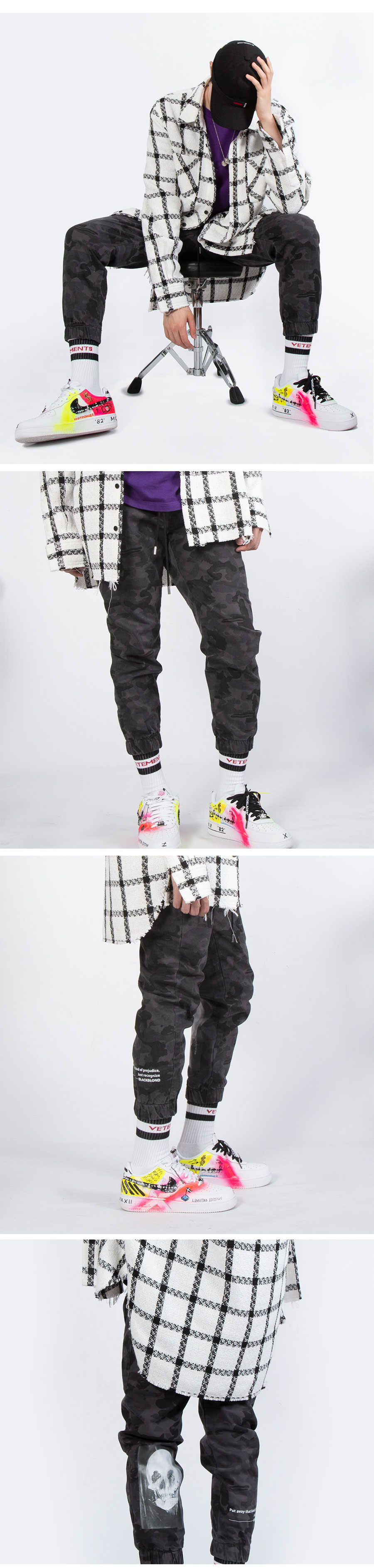 블랙블론드 BBD Hermoso Camo Jogger Pants (Grey)