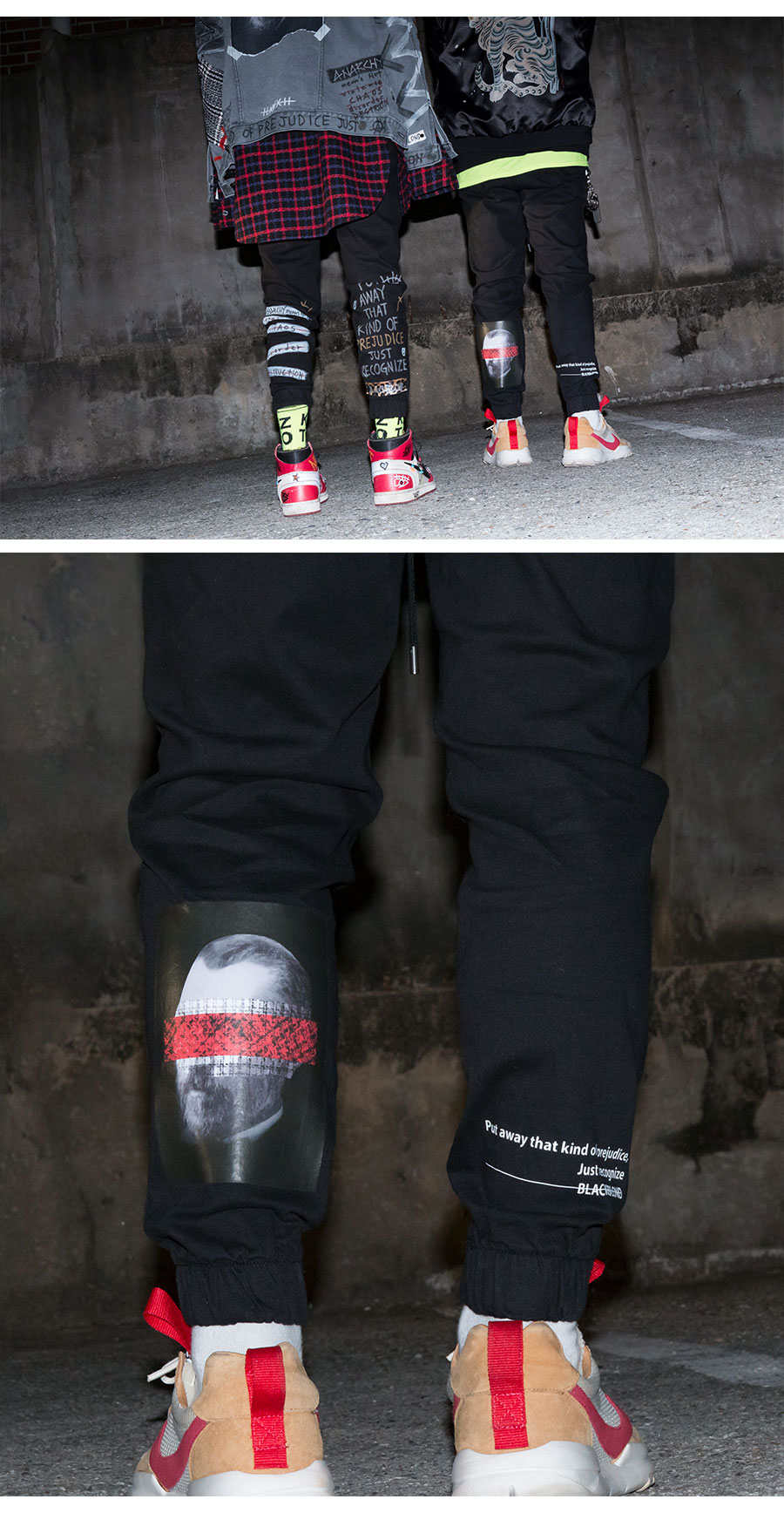 블랙블론드 BLACKBLOND - BBD Brutal Jogger Pants (Black)